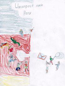 Zeichnung Waranpost Karline