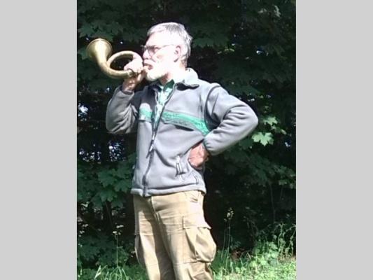 Ein Jäger blies ins Horn